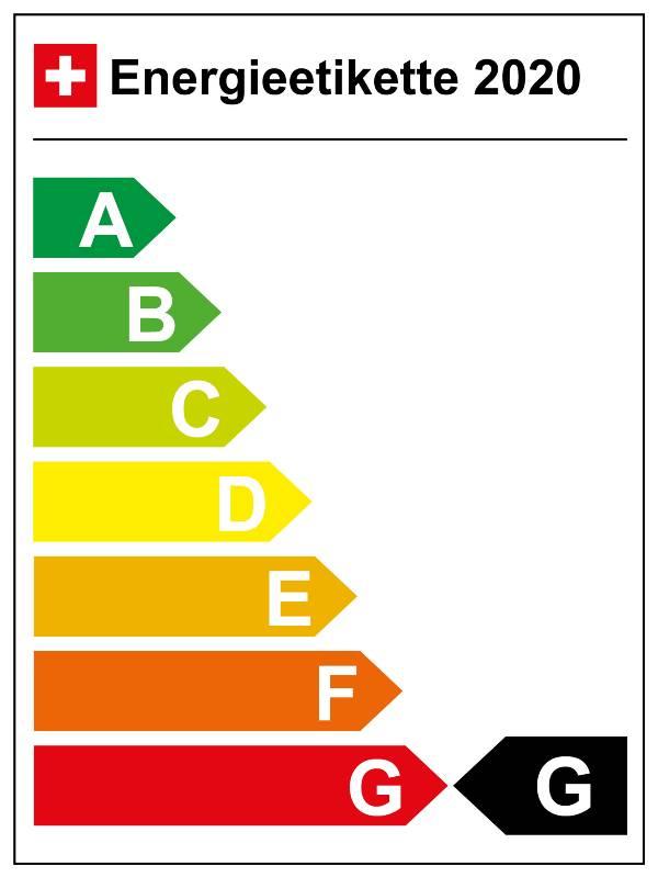 Schweiz: Energieeffizienz-Kategorie G (02/2020)