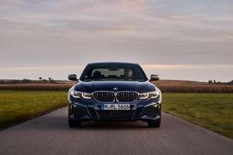 The new BMW M340d xDrive Sedan, Tanzanite blue metallic (02/2020).