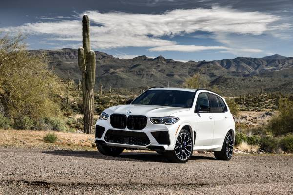 The All New Bmw X5 M Competition In Colour Mineral White Metallic And 21 22 M Light Alloy Wheels Star Spoke Style 809 M Bicolor Mixed Tyres Phoenix Arizona 02 2020