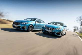 BMW M235i xDrive Gran Coupé and BMW 220d Gran Coupé. Czech on location pictures (04/2020).