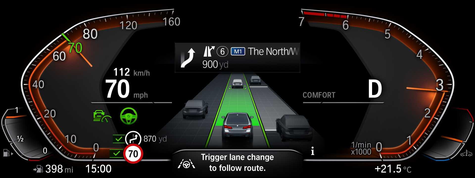 The new BMW 5 Series Sedan, Active Navigation (05/2020)