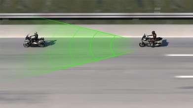 BMW Motorrad ACC sensor range (06/2020)