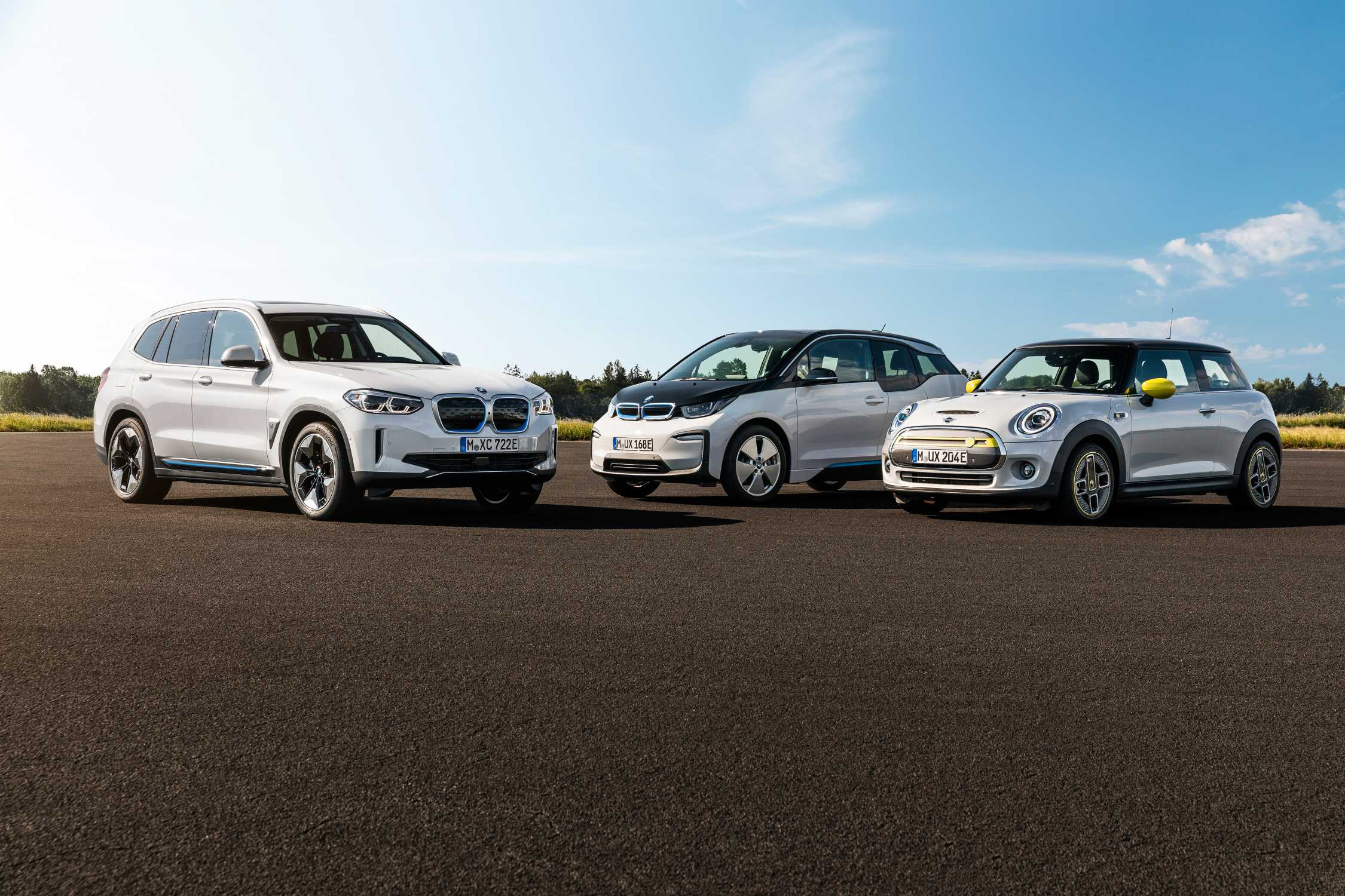BMW Group model range of fully electric vehicles (08/2020).