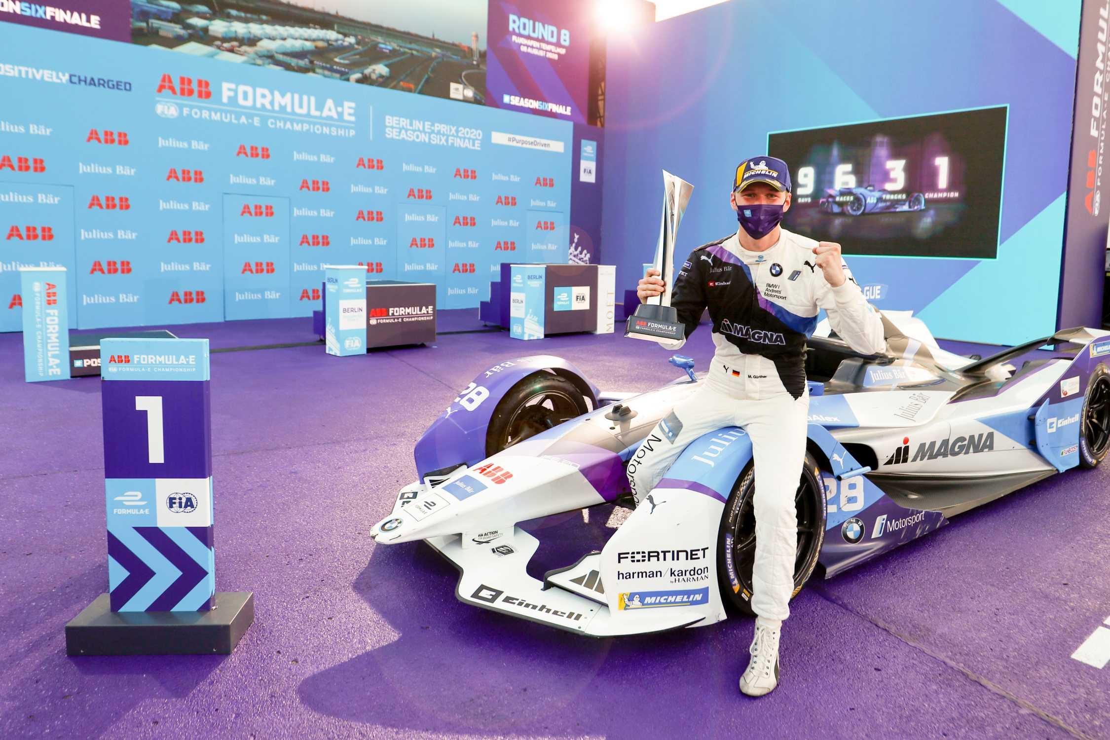 Berlin (GER), 8th August 2020. ABB FIA Formula E Championship, season finale, BMW i Andretti Motorsport, BMW iFE.20, Maximilian Günther.