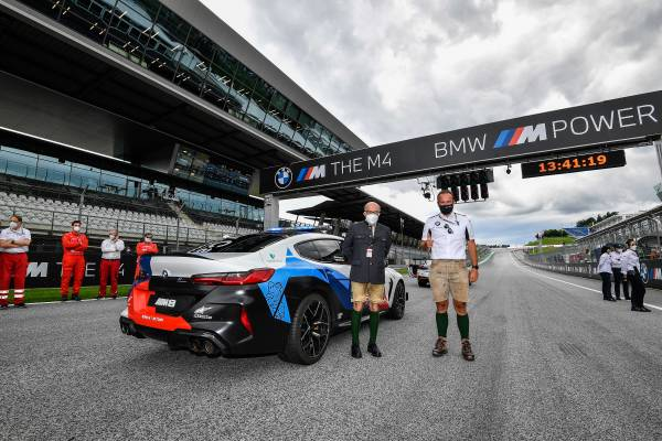 Bmw M Motogp Grand Prix Of Styria New Bmw M8 Gran Coupe Safety Car Presented Miguel Oliveira Wins The Exclusive New Bmw M4