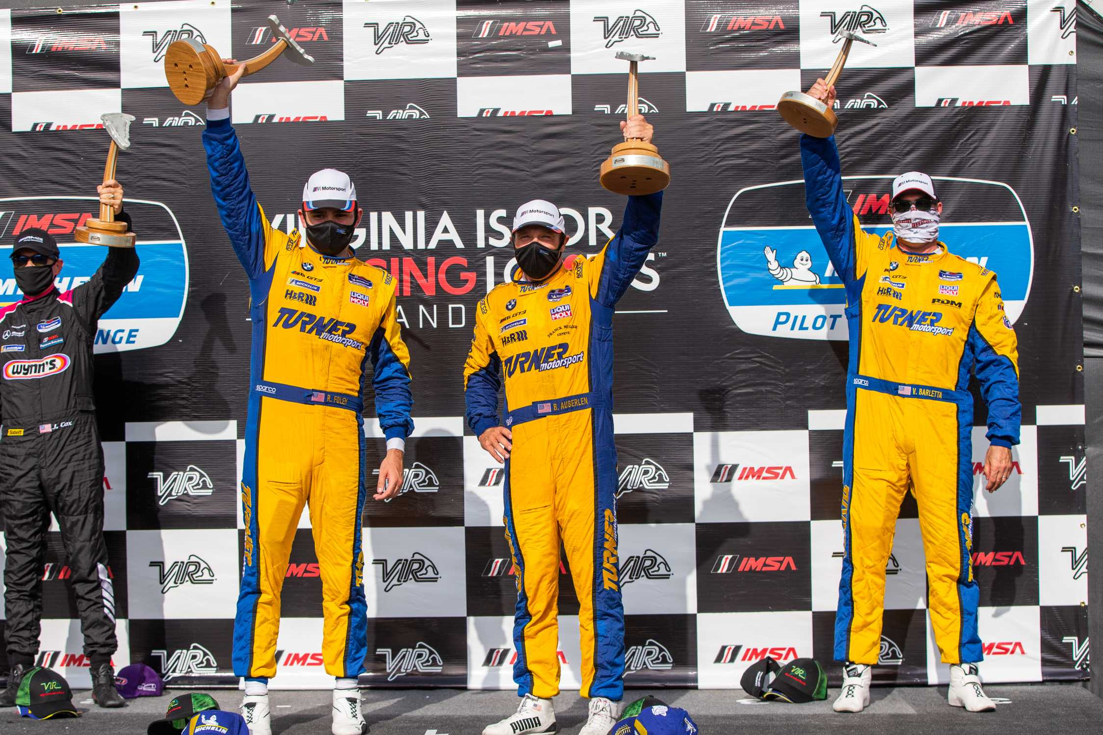 Virginia International Raceway (USA), 23rd August 2020. Michelin Pilot Challenge, Turner Motorsport, Bill Auberlen, Robby Foley, Vincent Barletta.
