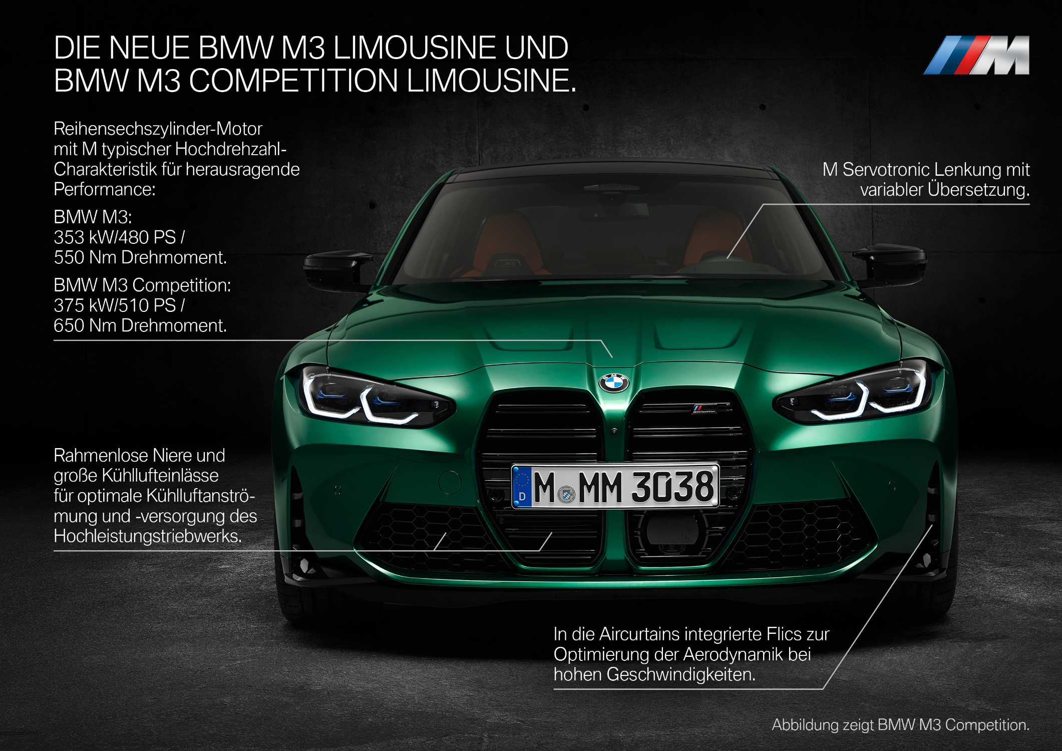 The new BMW M3 Competition Sedan (09/2020).