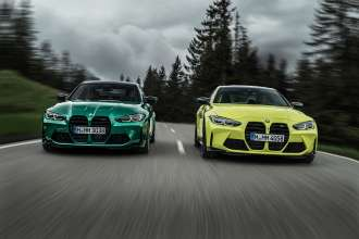 The new BMW M3 Competition Sedan and the new BMW M4 Competition Coupé (09/2020).