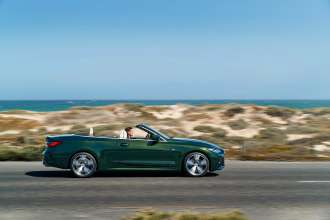 "The all-new BMW 4 Series Convertible, San Remo Green metallic, Rim 19"" Styling 793i (09/2020)."