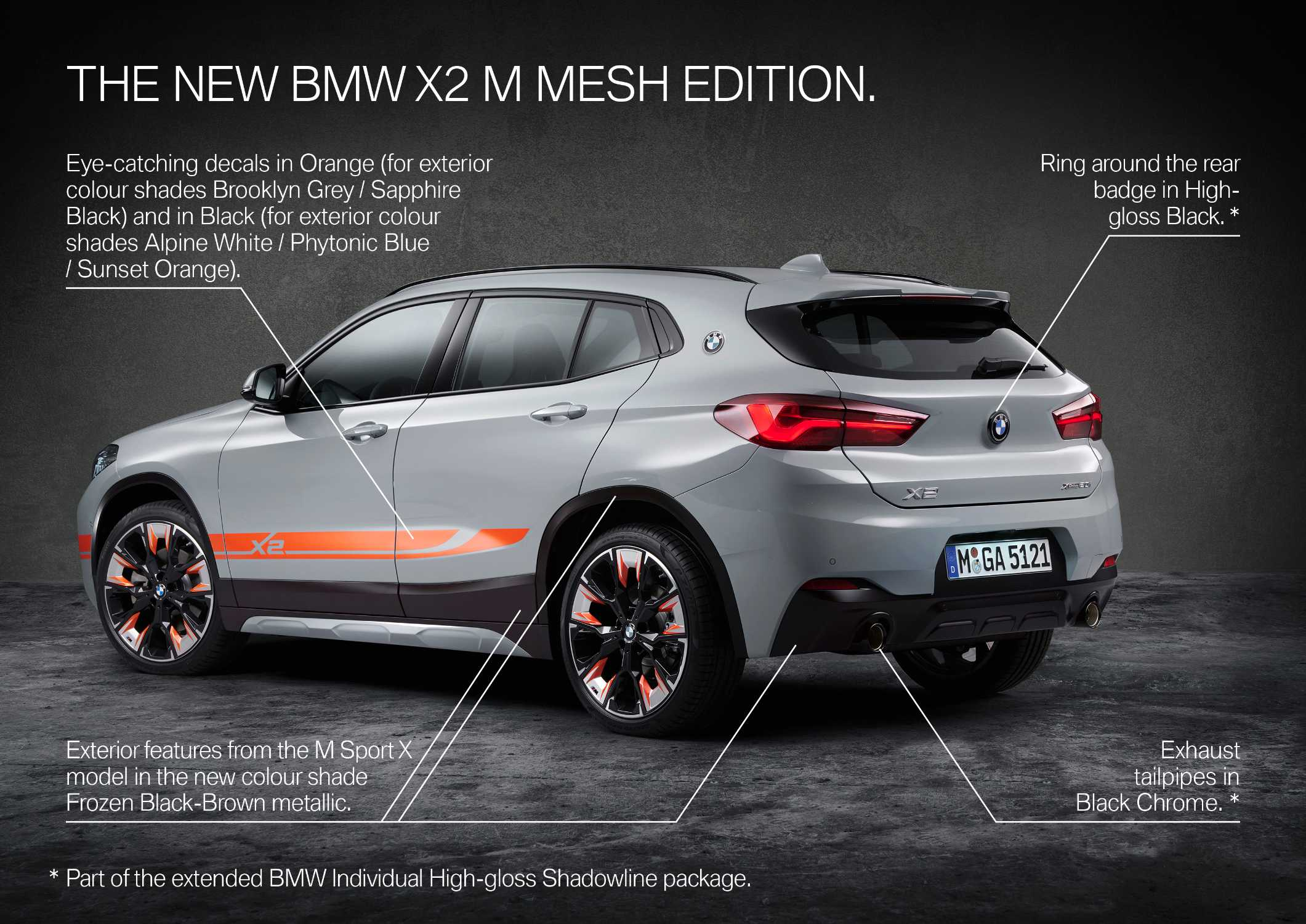 The new BMW X2 xDrive20i M Mesh Edition (09/2020).
