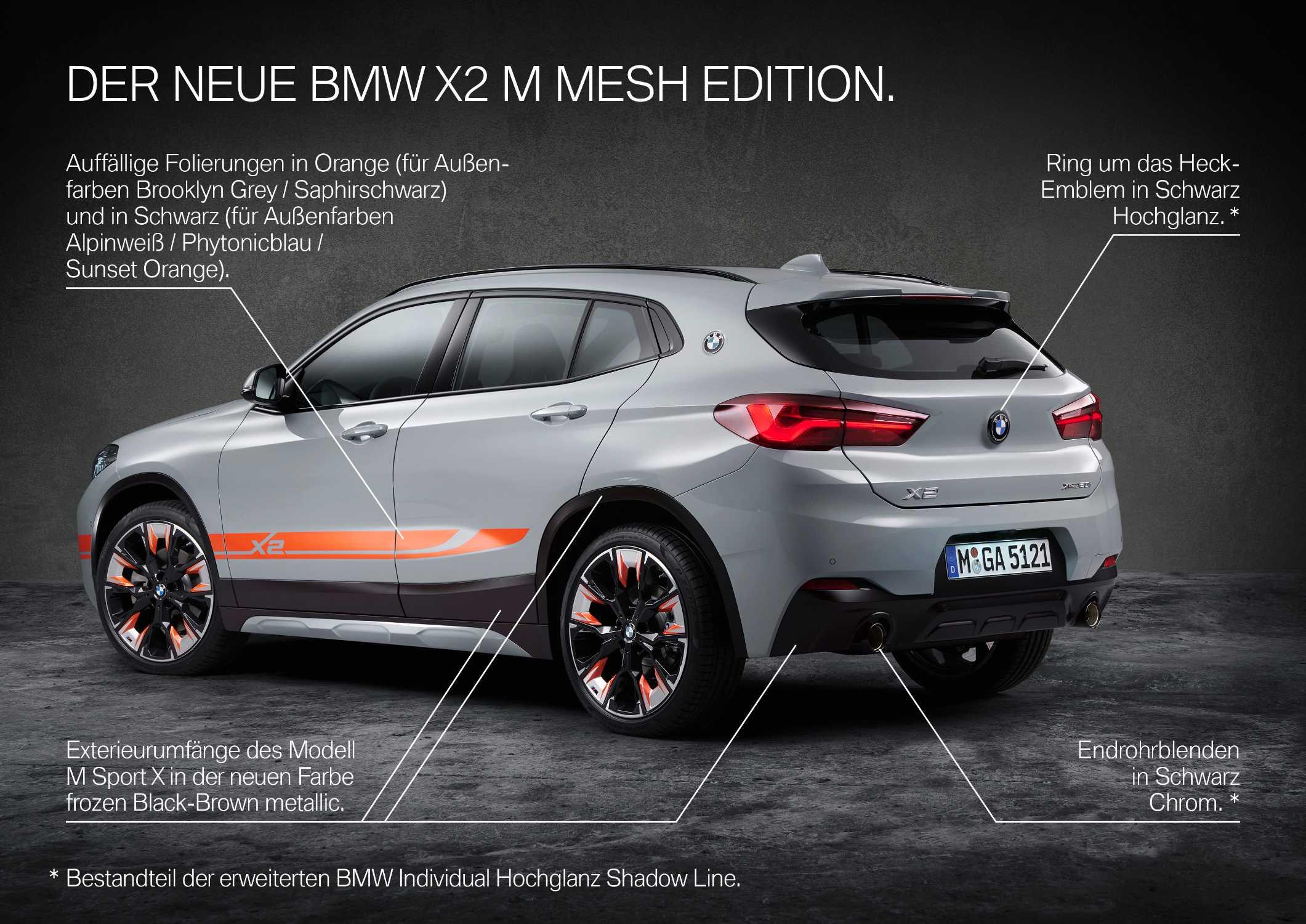 The new BMW X2 xDrive20i M Mesh Edition (09/2020).