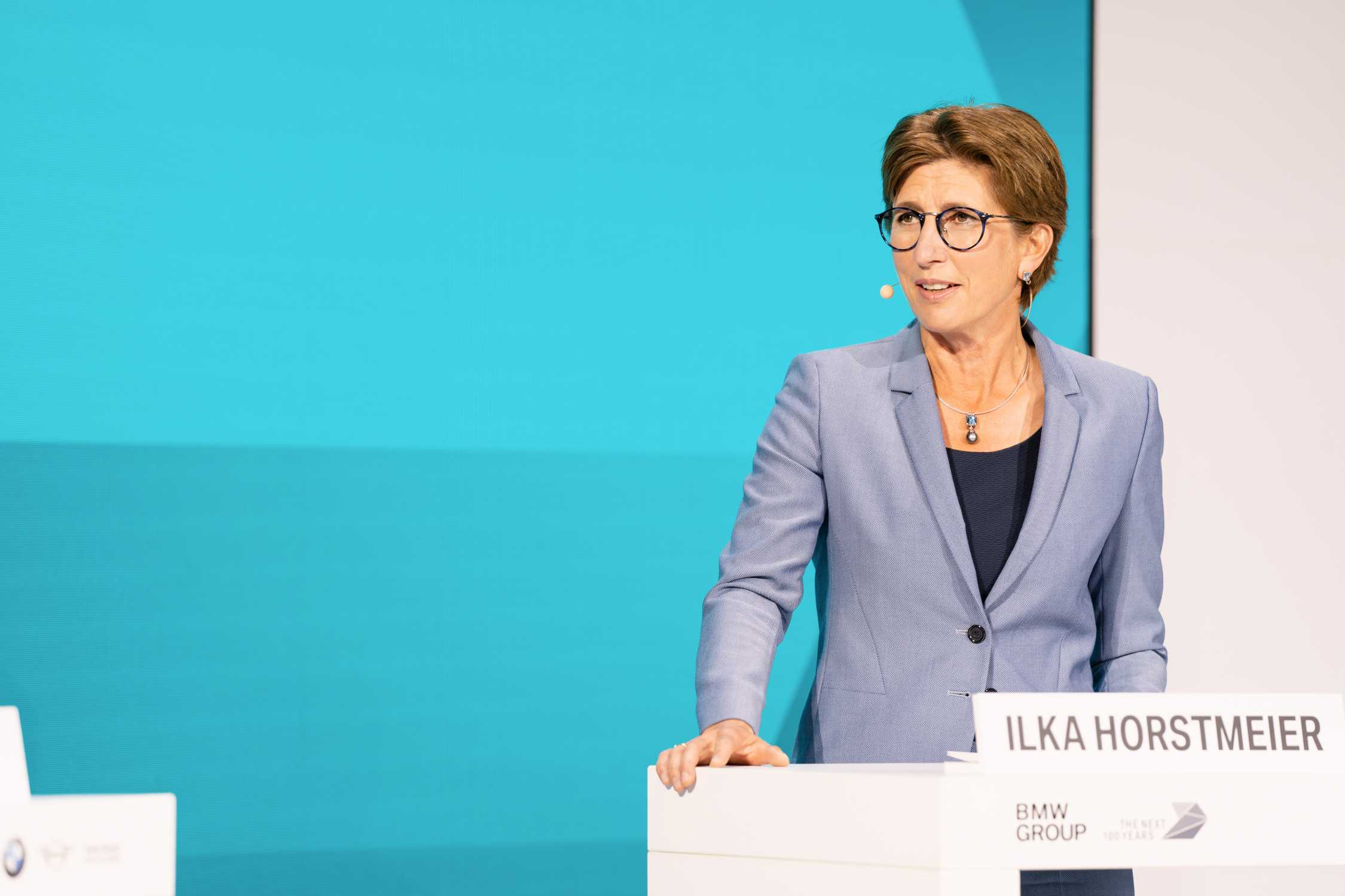BMW Group FIZ Future: Opening Projekthaus Nord in Munich on 25th September 2020. Ilka Horstmeier, Member of the Board of Management of BMW AG, Human Resources, Labour Relations Director (09/2020).