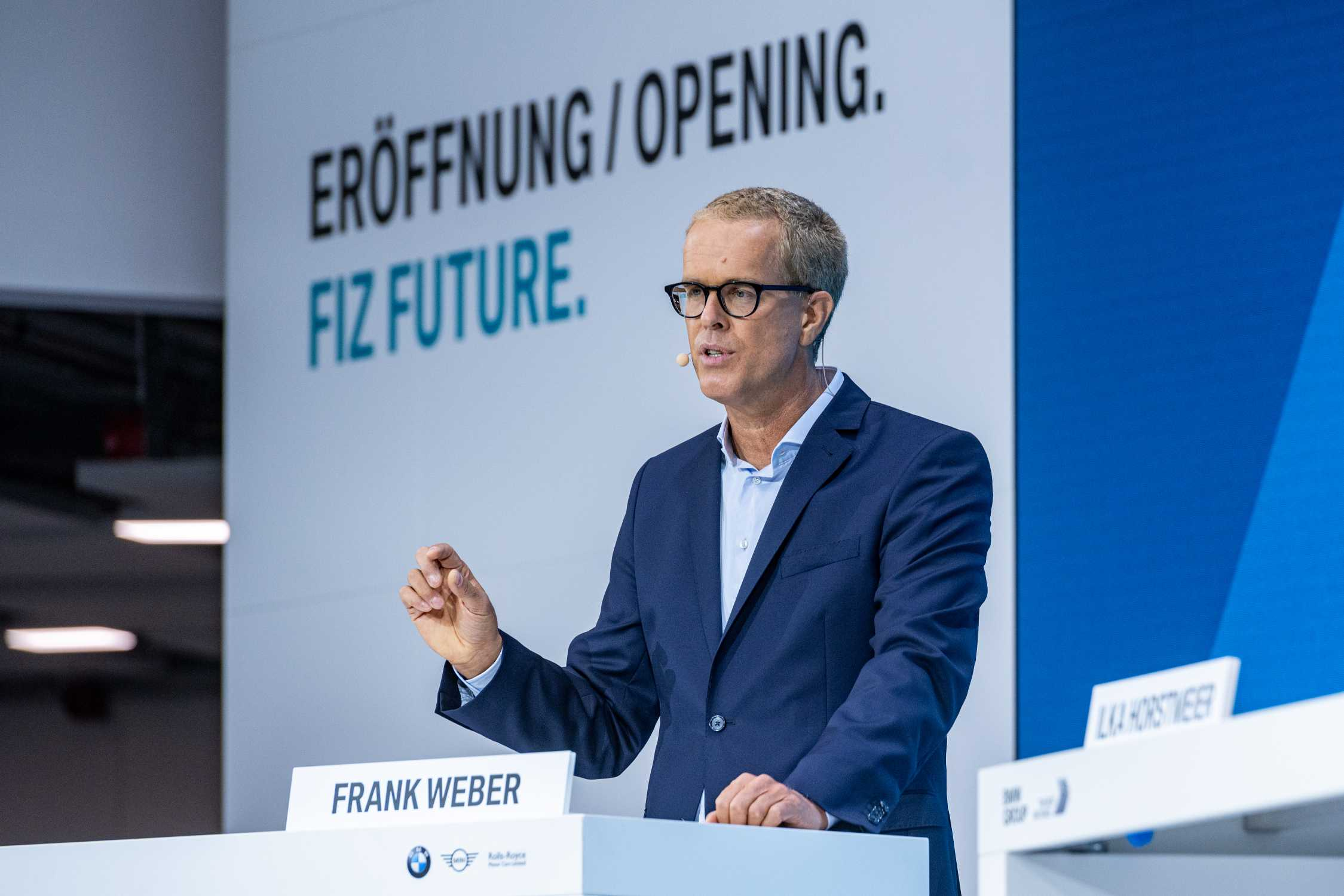 BMW Group FIZ Future: Opening Projekthaus Nord in Munich on 25th September 2020. Frank Weber, Member of the Board of Management of BMW AG, Development (09/2020).