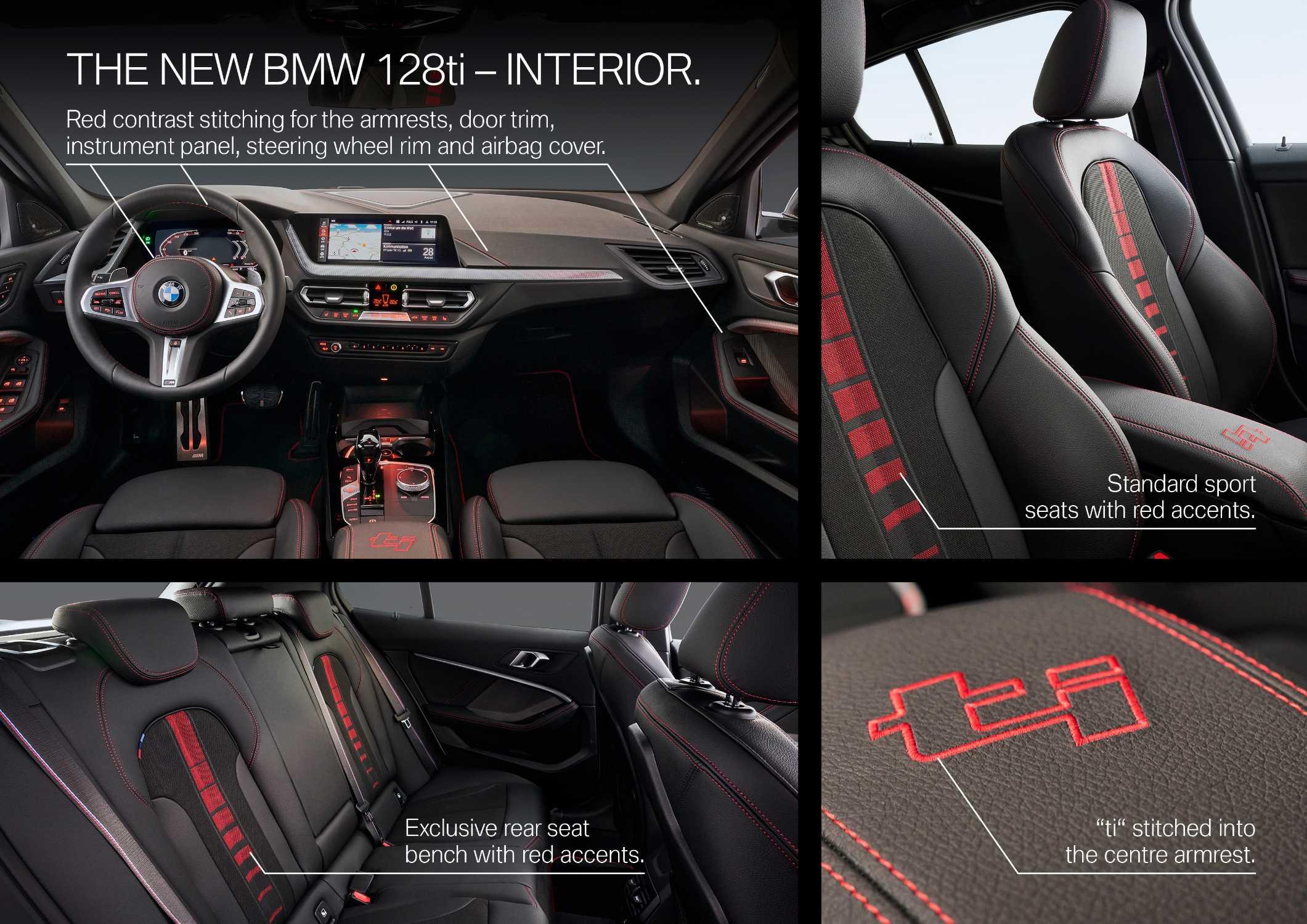 "The all-new BMW 128ti, Alpine white, Y Rim 18"" Styling 553 M (10/2020)."