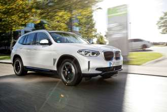 The first-ever BMW iX3 (10/2020).