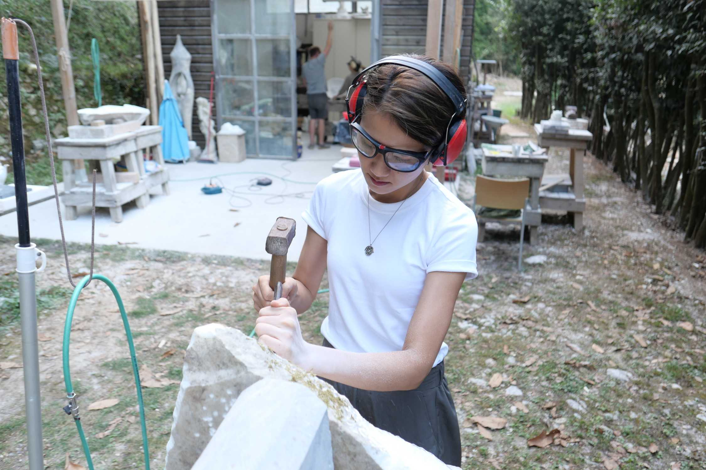 BMW Art Journey: Leelee Chan, marble workshop, Pietrasanta (Italy), 2020. Photo: Eunice Tsang. (11/2020)