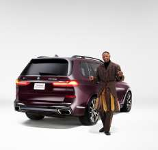 LaQuan Smith and the BMW X7 M50i Sports Activity Vehicle