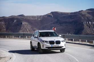 The new BMW iX3, on location photos Bulgaria (03/2021)