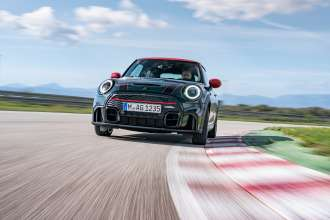 Fresh momentum for extreme driving pleasure: The MINI John Cooper Works.