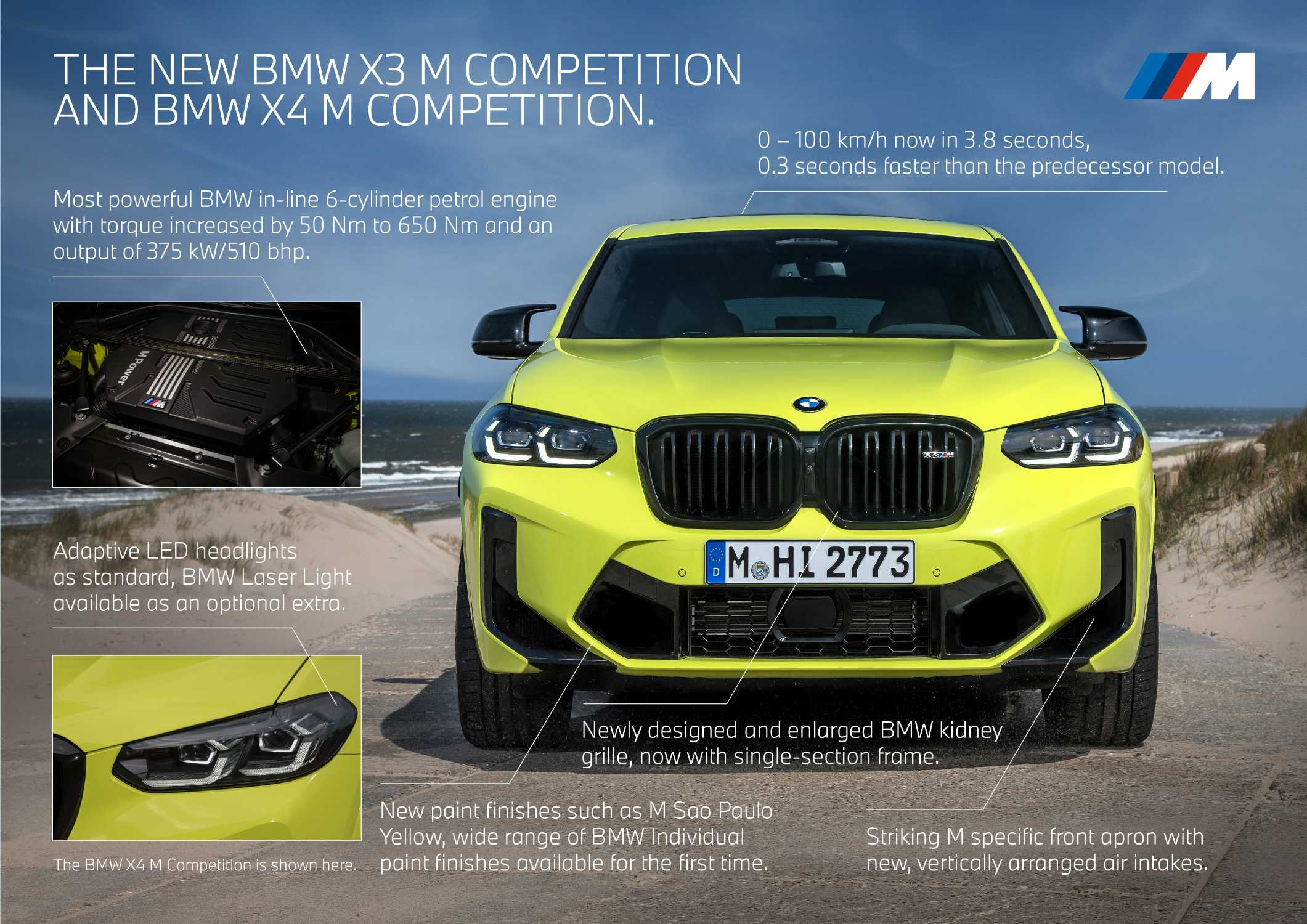 The new BMW X3 M Competition and the new BMW X4 M Competition (06/2021).