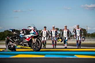 Le Mans (FRA), June 2021. BMW Motorrad Motorsport, FIM Endurance World Championship FIM EWC, BMW Motorrad World Endurance Team, #37 BMW M 1000 RR. Riders: Markus Reiterberger (GER), Ilya Mikhalchik (UKR), Xavi Forés (ESP), Kenny Foray (FRA).
