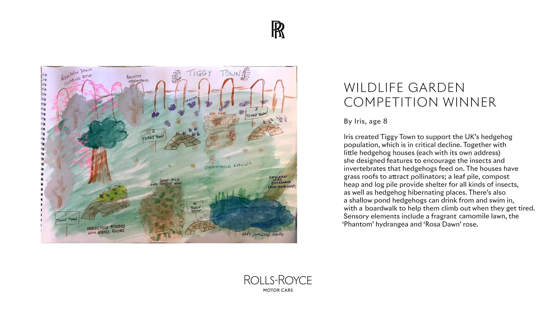 ROLLS-ROYCE WILDLIFE GARDEN COMPETITION WINNER. IRIS, AGE 8