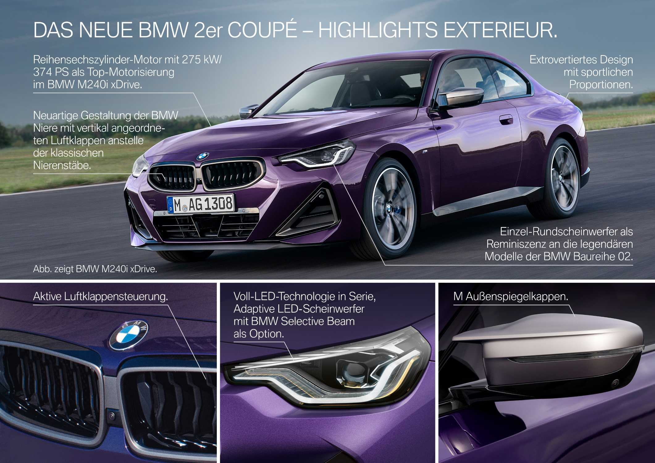 Das neue BMW 2er Coupé - Highlights (07/2021).