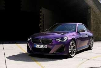 "The all-new BMW M240i xDrive Coupé, Thundernight Metallic, 19"" Wheel Styling 792M Bicolor (07/2021)."