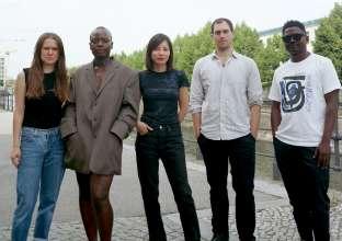 The Nominees for the Preis der Nationalgalerie 2021 (f.l.t.r.): Calla Henkel, Sandra Mujinga, Sung Tieu, Max Pitegoff, Lamin Fofana. Photo: Calla Henkel & Max Pitegoff (09/2021)