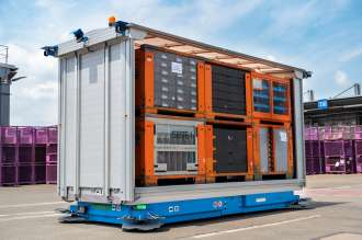 Smart plant logistics: Automated transport systems for outdoor use