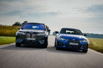 The first ever BMW iX and the first ever BMW i4 (09/2021).