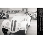 Ernst Henne in his first BMW 328 Prototype at the start of the Eifel race 1936     05/01