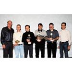 MINI Race Challenge, Gesamtsieger und Veranstalter, v.l.n.r. Schaub, Bolle, Sieber, Hauri, Brunner, Bally (10/2003)