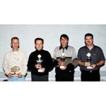 MINI Race Challenge, Gesamtsieger, v.l.n.r. Bolle, Sieber, Hauri, Brunner (10/2003)