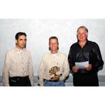 MINI Race Challenge, Sieger mit Veranstalter, Bally, Bolle, Schaub (10/2003)