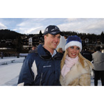 6th December 2003 Seefeld Austria Ralf Schumacher BMW WilliamsF1 Team driver 2003 with his wife Cora (01/2004)