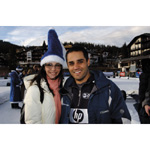 6th December 2003 Seefeld Austria. Juan Pablo Montoya BMW WilliamsF1 Team driver 2003 with his wife Connie (01/2004)