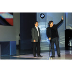 6th December 2003. Seefeld Austria, BMW Motorsports Party. Dr. Mario Theissen (BMW Motorsport Director) with Alex Zanardi (01/2004)
