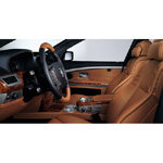 BMW Individual 7 Series. Leather: Merino Gold Brown - Interior trim strips: Poplar Ruby (02/2004)