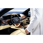 BMW Individual 7 Series with Maritime Equipment: Leather: Merino Champagne - Interior trim strips: Mahogany (02/2004)