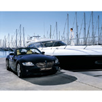 BMW Individual Z4 with Maritime Equipment. Paint finish: Midnight Blue metallic (02/2004)