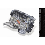 BMW 6 cylinder petrol engine with Twin -Turbo and High Precision Injection (04/2006)
