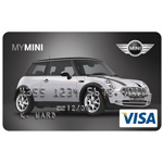 MINI Financial Services, a division of BMW Financial Services North America, now offers the MINI Card, a customizable VISA credit card that allows cardholders to design their own credit card image using a patent-pending, Web-based Configurator.  Cardholders can select from four body styles, 36 wheel choices, 21 exterior body color choices, 24 exterior roof choices plus other features (06/2006)