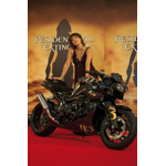 Resident Evil 3: Milla Jovovich with the BMW Motorrad K 1200 R (07/2007)
