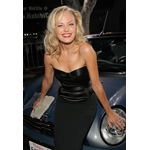 "World Premiere ""The Heartbreak Kid"" in Los Angeles: Main Actress Malin Akerman aka ""Lila"" in front of the Original MINI Cooper Cabrio from the film (09/2007)"
