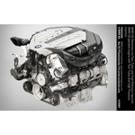 BMW V8 gasoline engine with Twin Turbo and High Precision Injection (12/2007)