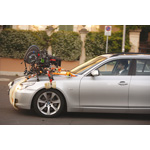 Nanni Moretti at the wheel of the BMW 535d Touring during shooting for