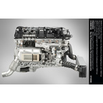 BMW 6 cylinder diesel engine with Aluminium-Crankcase and 1800 bar Piezo-Injection (07/2008)