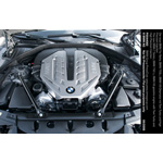 The new BMW 7 Series, BMW 750 Li, BMW V8 Gasoline Engine with Twin Turbo and High Precision Injection (07/2008)