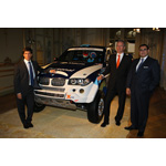 Orly Terranova, Sven Quandt and Arturo Piñeiro and with the BMW X3 CC (f.l.) (03/2008)